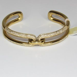 MICHAEL KORS GOLD ICONIC LINKS CRYSTALS BRACELET